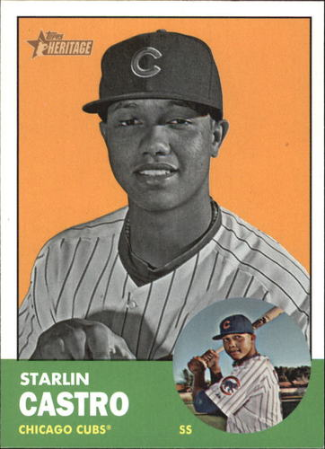 Photo of 2012 Topps Heritage #193B Starlin Castro BW SP