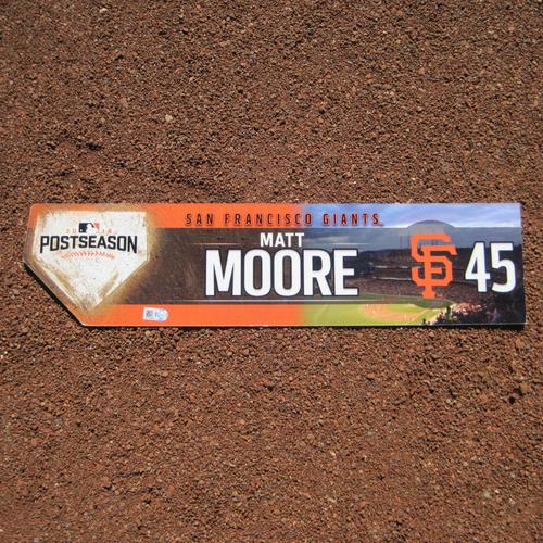 Photo of San Francisco Giants - Game-Used Locker Tag - WC & NLDS - Matt Moore