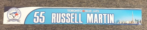Photo of Authenticated Game Used Locker Tag - #55 Russell Martin (40th Anniversary Season)
