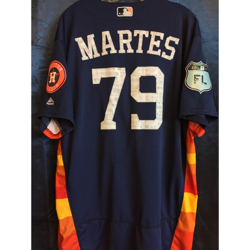Photo of #79 Francis Martes Team-Issued 2017 Spring Training Jersey