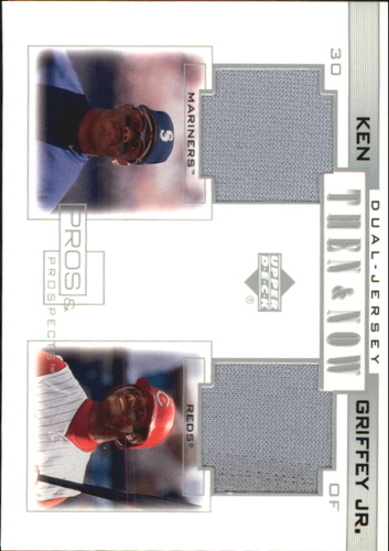 Photo of 2001 Upper Deck Pros and Prospects Then and Now Game Jersey #TNKG Ken Griffey Jr.