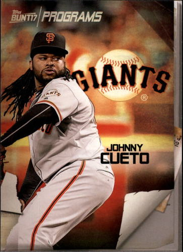 Photo of 2017 Topps Bunt Programs #PRJC Johnny Cueto