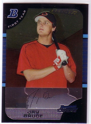 Photo of 2005 Bowman Chrome Draft #32 Jay Bruce Rookie Card -- Indians post-season
