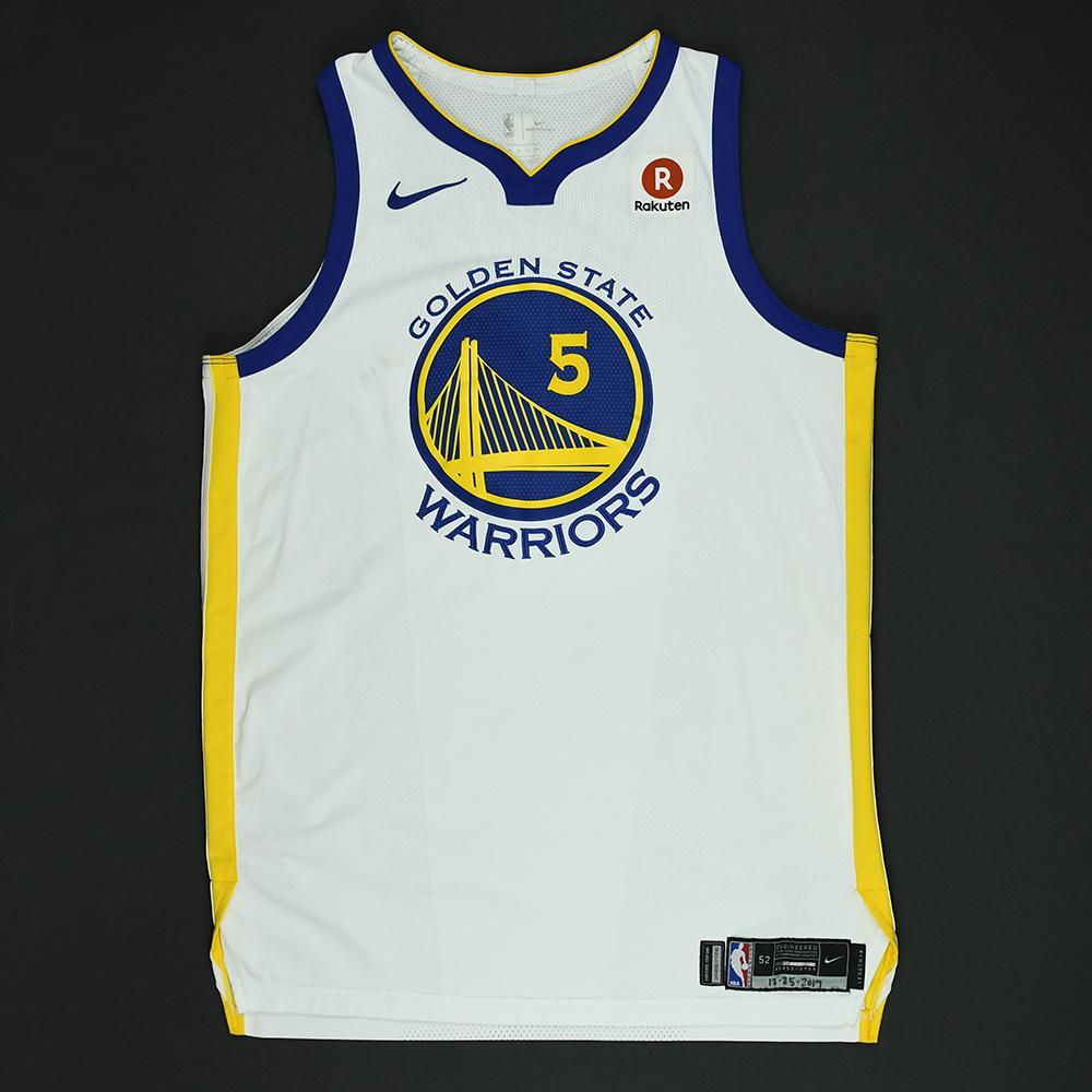 Kevon Looney - Golden State Warriors - NBA Christmas Day '17 Game-Worn Jersey