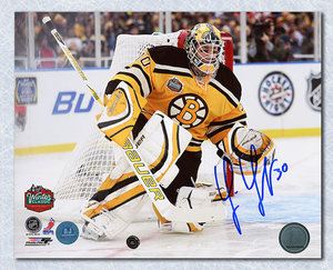 Tim Thomas Boston Bruins Autographed Fenway Park 2010 Winter Classic 8x10 Photo