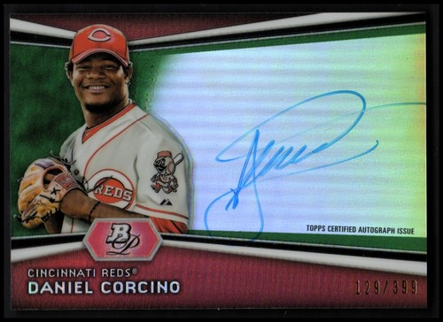 Photo of 2012 Bowman Platinum Prospect Autographs Green Refractors #DC Daniel Corcino