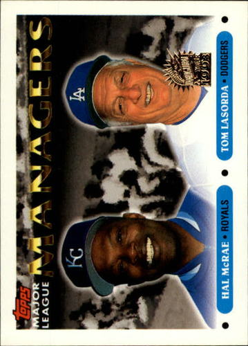 Photo of 1993 Topps Inaugural Marlins #507 Hal McRae MG/Tom Lasorda MG