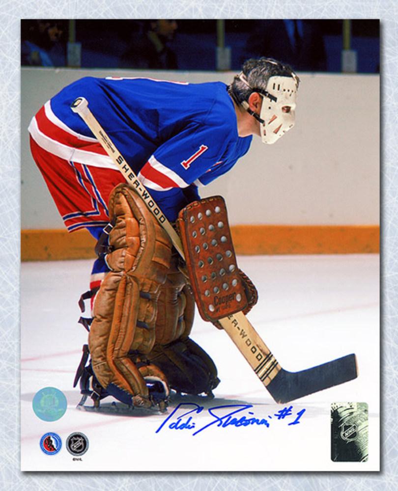 Ed Giacomin New York Rangers Autographed Goalie 8x10 Photo
