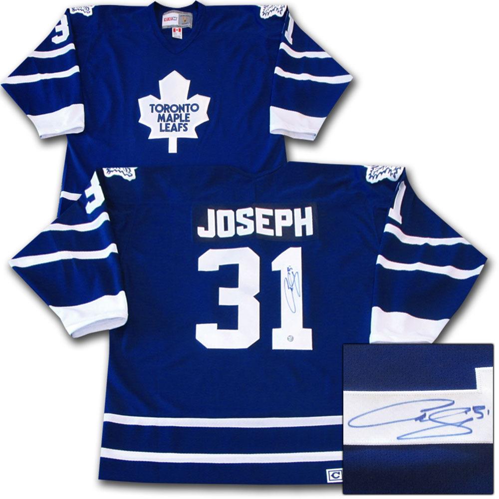 Curtis Joseph Autographed Toronto Maple Leafs Jersey