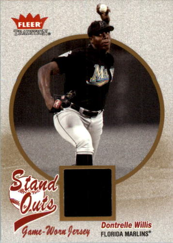 Photo of 2004 Fleer Tradition Stand Outs Game Used #DW Dontrelle Willis Jsy