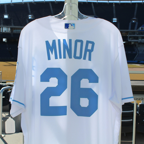 Photo of Mike Minor Game-Used Jersey (6/19/2016 - DET at KC) (Size 48)