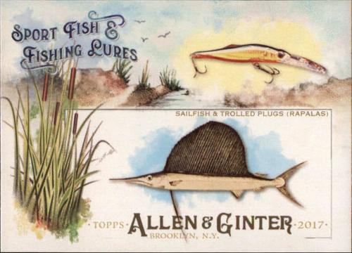 Photo of 2017 Topps Allen and Ginter Sport Fish and Fishing Lures #SFL13 Sailfish