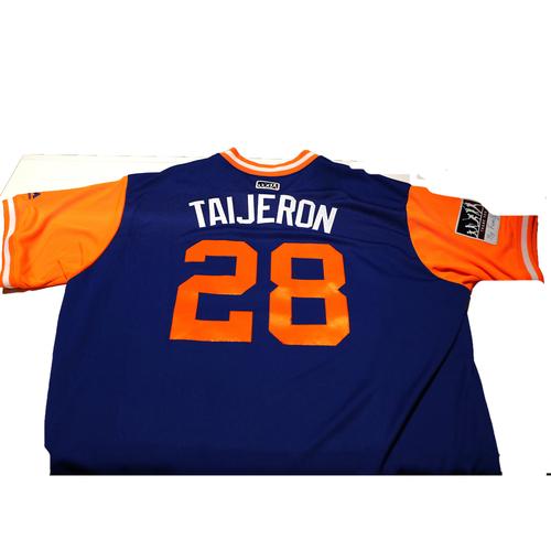 "Photo of Travis ""Taijeron"" Taijeron New York Mets Game-Used Players Weekend Jersey"