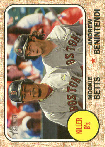 Photo of 2017 Topps Heritage Combo Cards #CC8 Andrew Benintendi/Mookie Betts