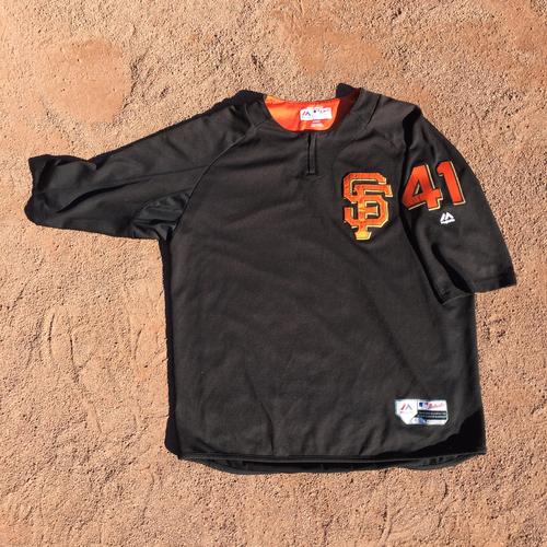 San Francisco Giants - 2017 Team-Issued Batting Practice Jersey #41 Mark Melancon (Size: XL)
