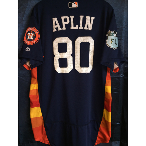 Photo of #80 Andrew Aplin Team-Issued 2017 Spring Training Jersey