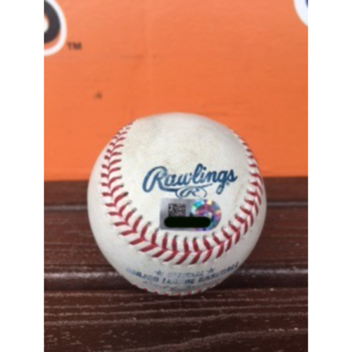 Photo of Daniel Murphy Game-Used Baseball - RBI Double vs Justin Nicolino Ball (Career #298)