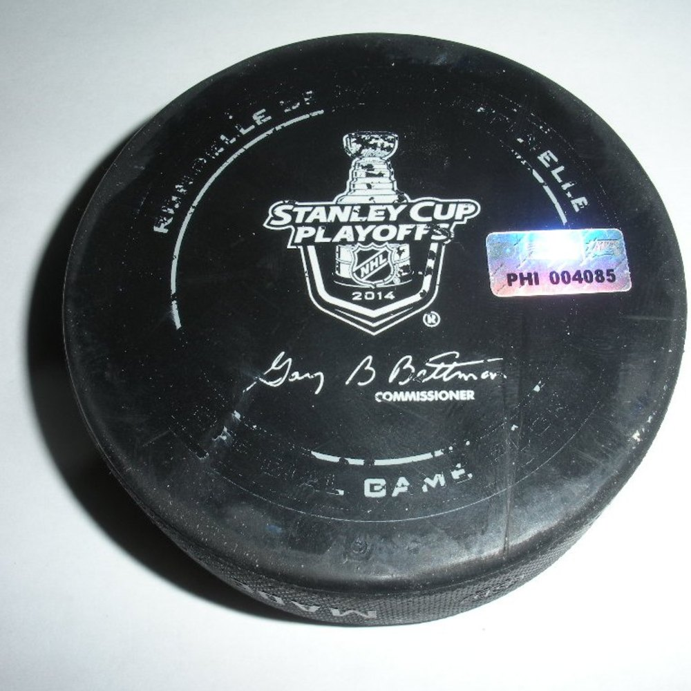 Dan Girardi - New York Rangers - Goal Puck - April 22, 2014 - Eastern Conference First Round, Game 3 (Flyers/Stanley Cup Logo)