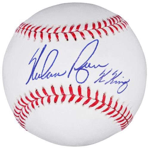 Photo of Nolan Ryan Houston Astros Autographed Baseball with K-King Inscription