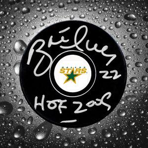 Brett Hull Dallas Stars HOF Autographed Puck