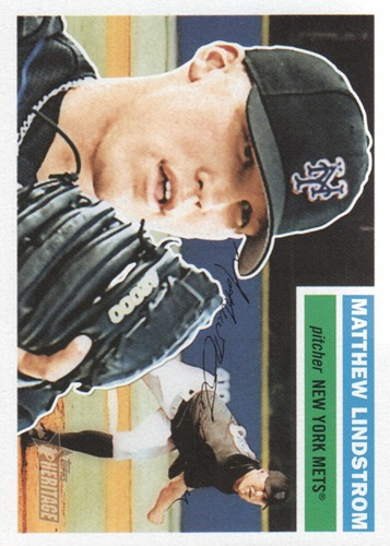 Photo of 2005 Topps Heritage #378 Matthew Lindstrom RC