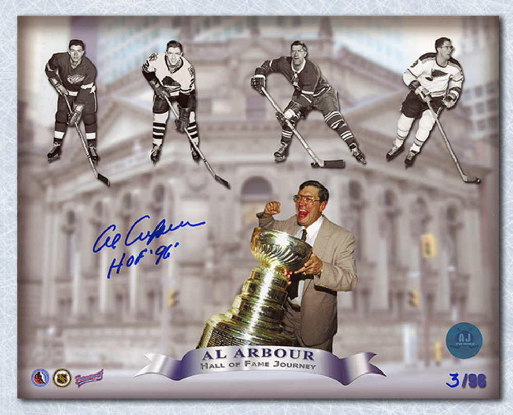 Al Arbour Hall Hall Of Fame Journey Signed 8x10 Collage Print #/96