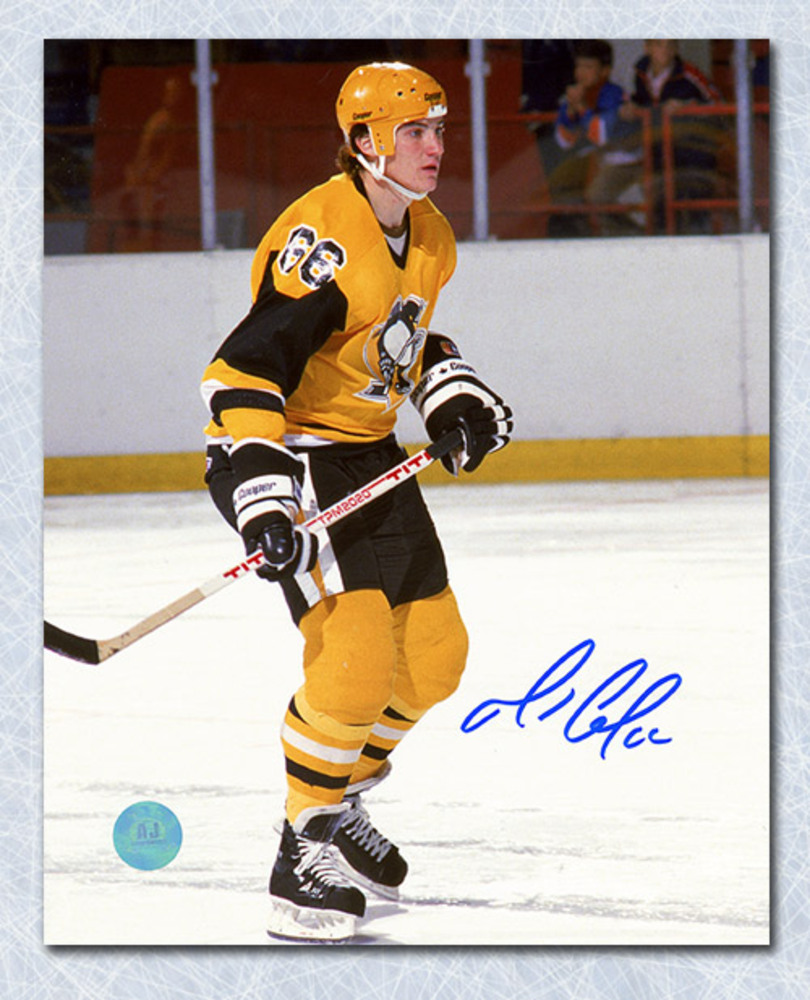Mario Lemieux Pittsburgh Penguins Autographed Rookie Season 8x10 Photo