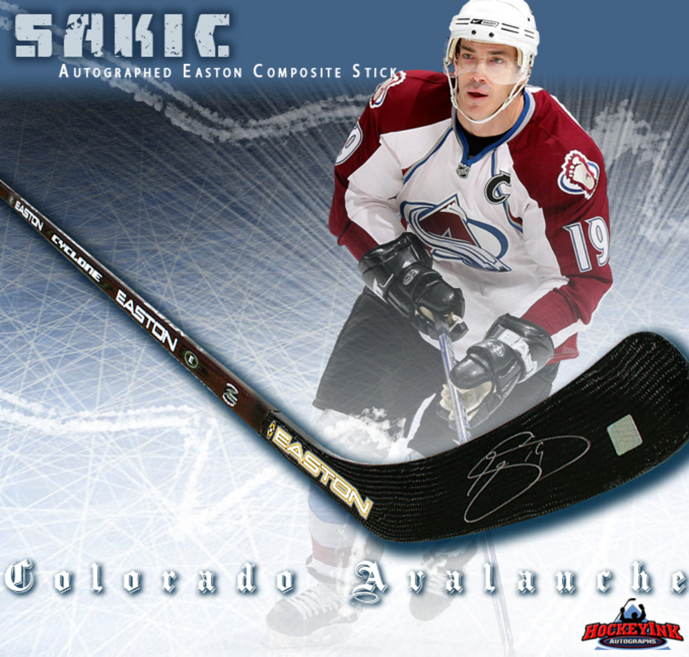 JOE SAKIC Signed Easton Composite Hockey Stick - Colorado Avalanche