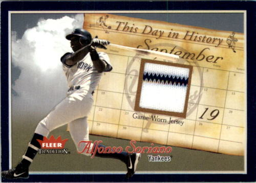 Photo of 2004 Fleer Tradition This Day in History Game Used #AS Alfonso Soriano Jsy