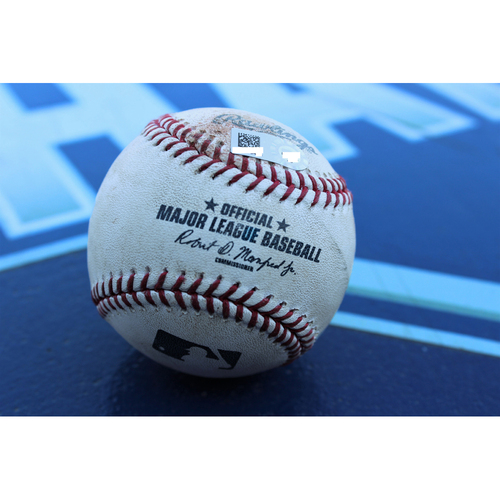 Photo of Game-Used Baseball: Dyson SGL - August 5, 2016 (TOR at KC)