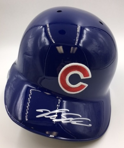 Photo of Kyle Schwarber Autographed Cubs Batting Helmet