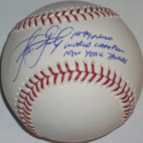 "Photo of Jason Grimsley ""99 & 00 World Champion New York Yankees"" Autographed Baseball"