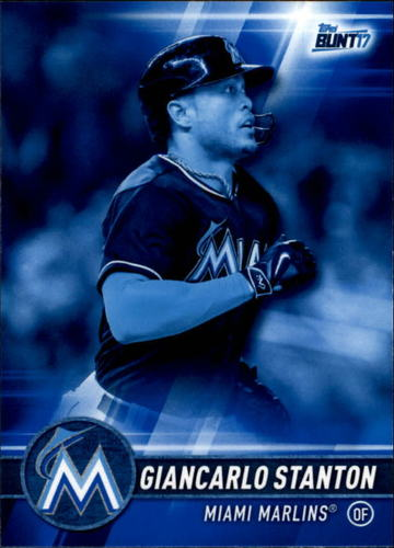Photo of 2017 Topps Bunt Blue #28 Giancarlo Stanton
