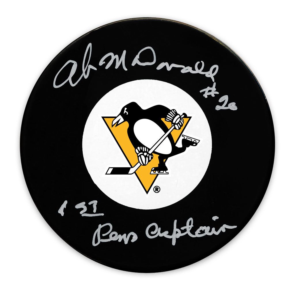 Ab McDonald Pittsburgh Penguins 1st Pens Captain Autographed Puck