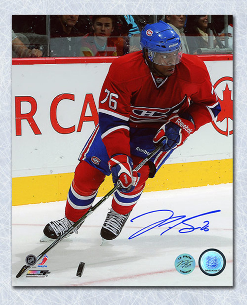 P.K. SUBBAN Autographed Montreal Canadiens 16x20 Photo
