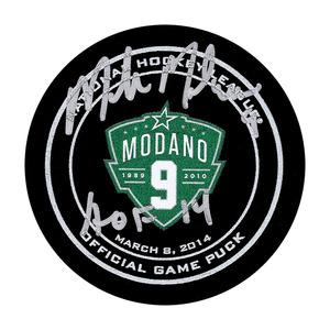 Mike Modano Autographed Dallas Stars Modano Night Official Game Puck