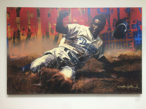 Photo of Jackie Robinson Canvas by Stephen Holland