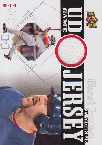Photo of 2010 Upper Deck UD Game Jersey #KY Kevin Youkilis