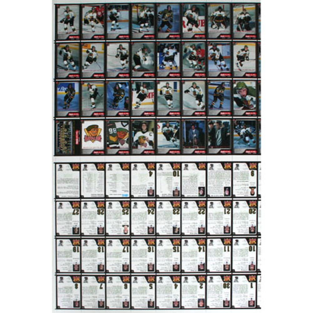 1999 Brampton Battalion Uncut Hockey Card Sheet - 2 sets of 32 cards - Very Rare - Jason Spezza Pre-Rookie Card