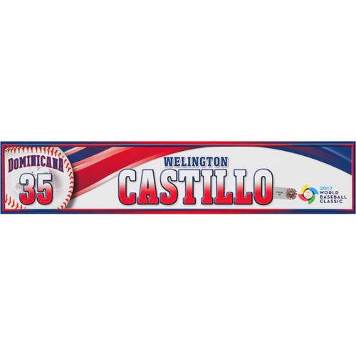 Photo of 2017 WBC Dominican Republic Game-Used Locker Tag: Welington Castillo #35