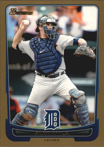 Photo of 2012 Bowman Gold #134 Alex Avila Cubs post-season