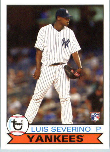 Photo of 2016 Topps Archives #123 Luis Severino Rookie Card -- Yankees post-season