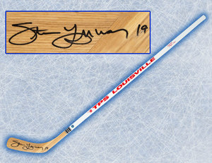 Steve Yzerman Detroit Red Wings Autographed Louisville TPS Hockey Stick
