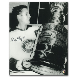 Jean Beliveau Autographed Montreal Canadiens 8X10 Photo w/HOF 72 Inscription
