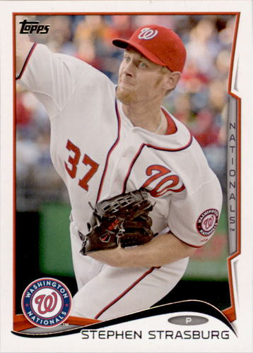 Photo of 2014 Topps #332 Stephen Strasburg