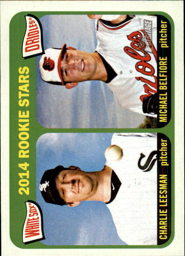 Photo of 2014 Topps Heritage #74 Charlie Leesman RC/Michael Belfiore RC