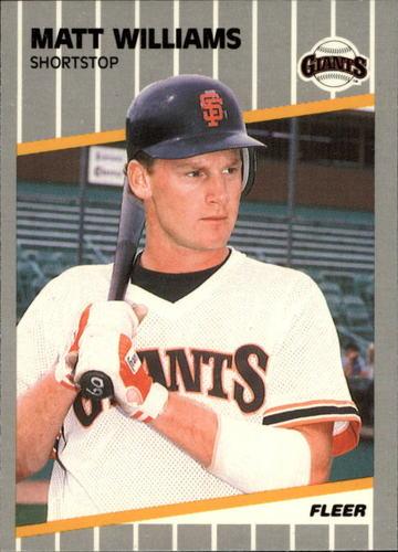 Photo of 1989 Fleer Glossy #346 Matt Williams