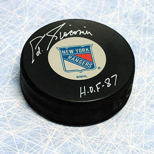 Ed Giacomin New York Rangers Autographed Hockey Puck
