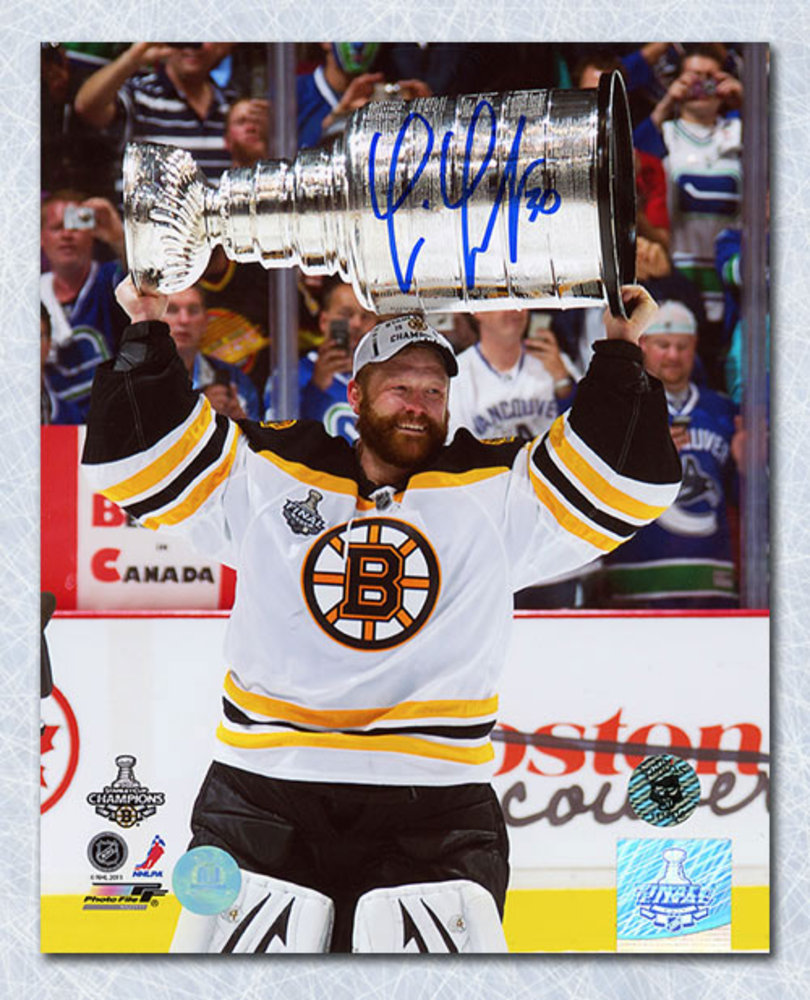 Tim Thomas Boston Bruins Autographed 2011 Stanley Cup 8x10 Photo