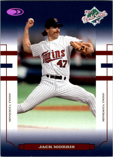 Photo of 2004 Donruss World Series Blue HoloFoil 100 #48 Jack Morris Twins